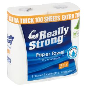 Solaris Really Strong Kitchen Towel 100 sheets 2 ply Pack 2