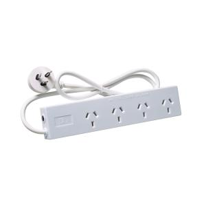 4 Outlet Protected Power Board with 0.9M Cord