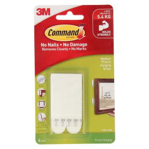 Command Medium Picture Hanging Strips 4Pk