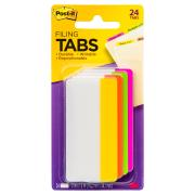 Post-It Filing Tabs 76.2 x 38.1mm Assorted Pack 4
