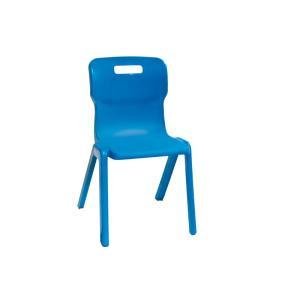 Titan One Piece Plastic Chair 310H Blue