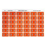 Avery 3 Side Tab Colour Coding Labels for Lateral Filing - 25 x 38mm - Dark Orange - 180 Labels