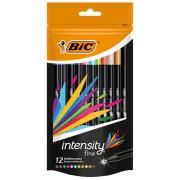Bic Intensity Fineliner Pen Assorted Colours Pack Of 12