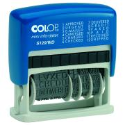 Colop Date Self-Inking Stamp With Blue & Red Ink