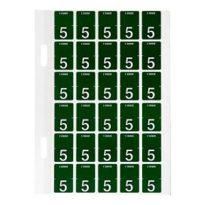 Avery 5 Top Tab Colour Coding Labels for Twin Tab Lateral Files - 20 x 30mm - Dark Green - 150 Lab