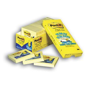 Post-It Notes Pop-Up Yellow 76 x 76mm Cabinet Pack 18