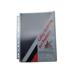 Colby 620A4P Polypropylene Portfolio Refill Pockets Clear Each
