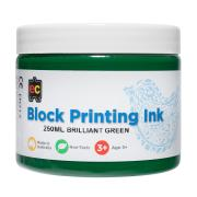 Educational Colours Block Printing Ink 250ml Green