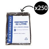 Austar Bin Liners Contractor Heavy Duty 82 Litre Black Packet 50 Carton 250