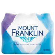 Mount Franklin Water 400ml Carton 24