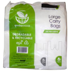 Enviro Choice Carry Bag Large Degradable Hdpe Plastic Pack Of 250