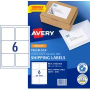 Avery Shipping Labels with TrueBlock for Inkjet Printers - 99.1 x 93.1mm - 300 Labels (J8166)
