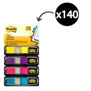 Post-It Flags 119 x 432mm Assorted Colours Yellow/Purple/Pink/Light Blue Pack 4