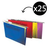 Crystalfile Suspension File Manila Board 100% Recyclable Assorted Pack 25