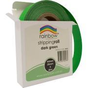 Rainbow Stripping Streamer Roll 25mmx30mm Dark Green