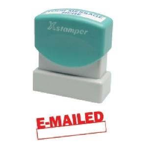 X Stamper Date Emailed Self Inking Stamp With Red Ink
