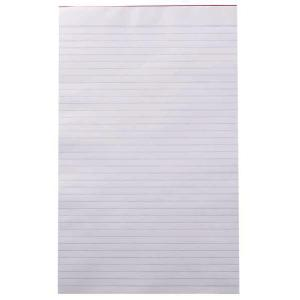 Winc Writing Pad Foolscap Ruled Recycled 50gsm White 100 Sheets