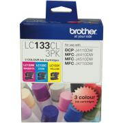Brother LC133CL-3PK 3 Colour Ink Cartridges - 3-Pack
