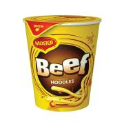 Maggi 2 Minute Noodle Cup Beef Carton 12