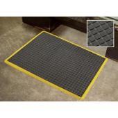 Air Grid Anti Fatigue Matting 600X900mm Black With Yellow Border