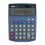 Winc 23450 Dual Power 12 Digit Electronic Desktop Calculator