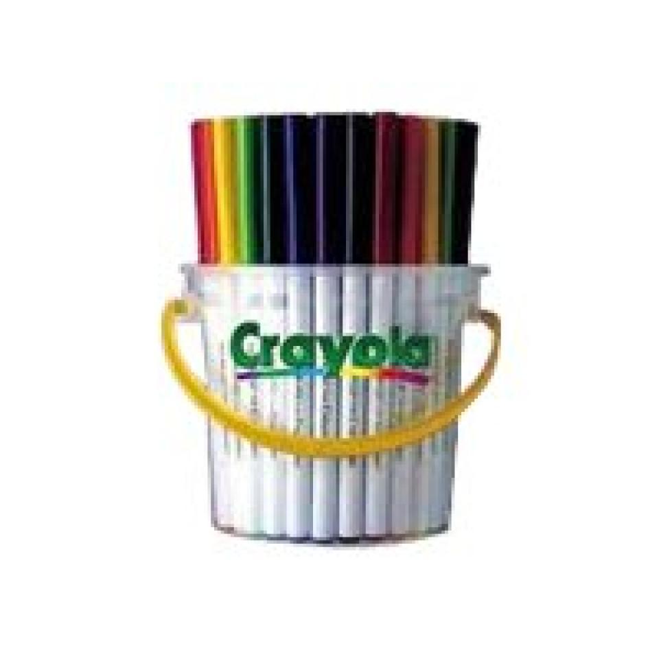 Crayola Deskpack Supertips Coloured Markers Assorted Pack 40 Image
