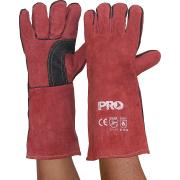 ProChoice Pyromate Red Kevlar Leather Long Gauntlet Welding Gloves 410mm Large Pair
