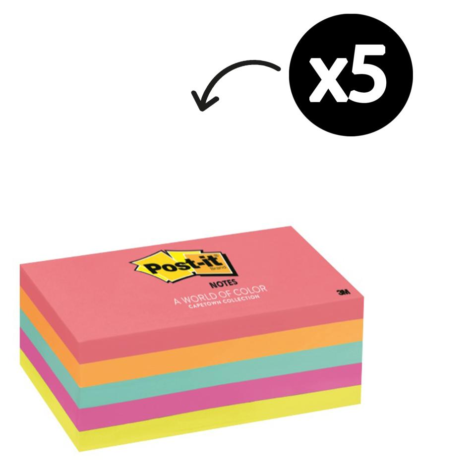 Post-It Notes Cape Town Collection 76 x 127mm Pack 5