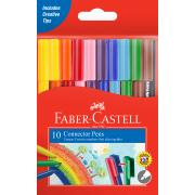 Faber-Castell Connector Pens Coloured Markers Assorted Pack 10