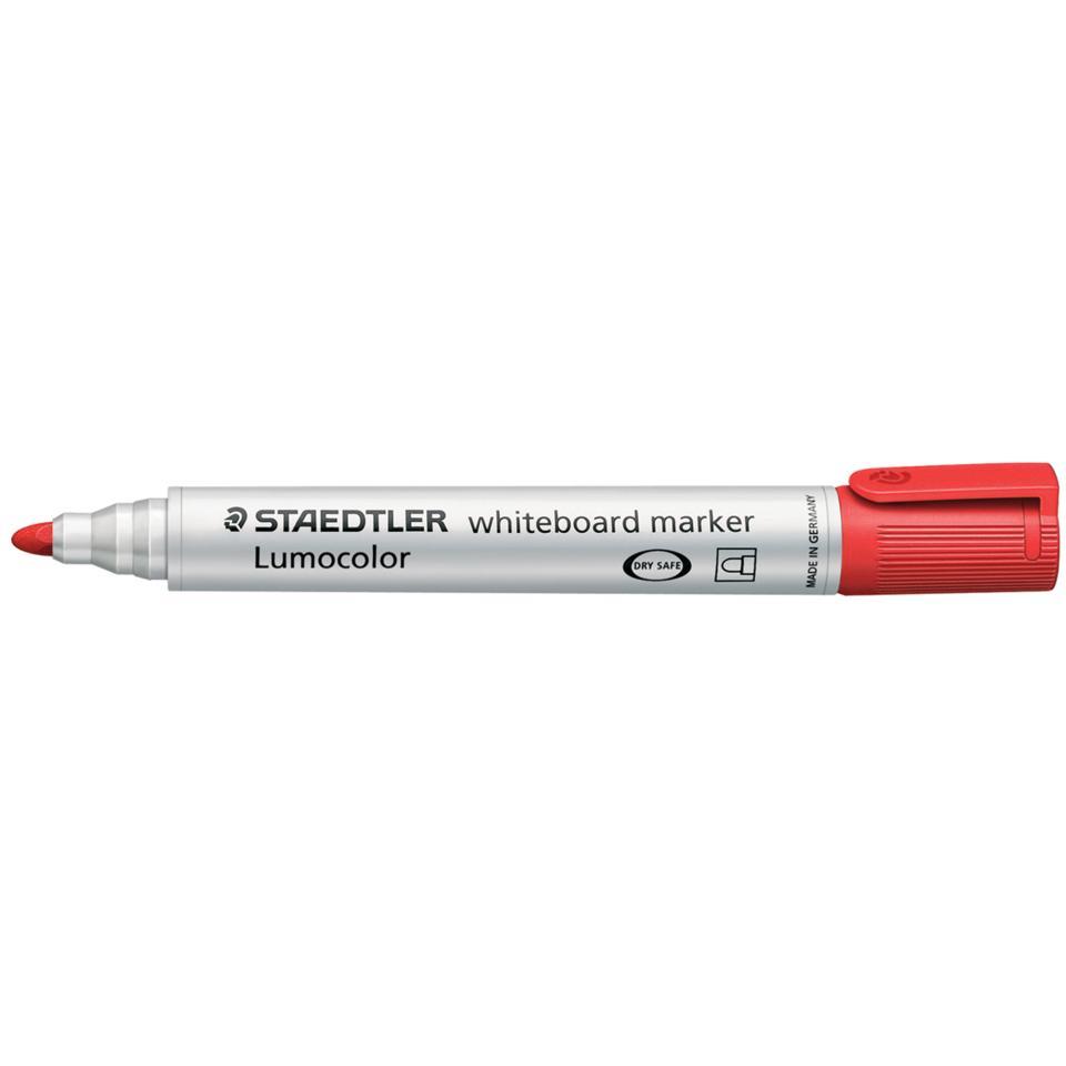 Staedtler Lumocolor Whiteboard Marker Bullet Point Red Box 10