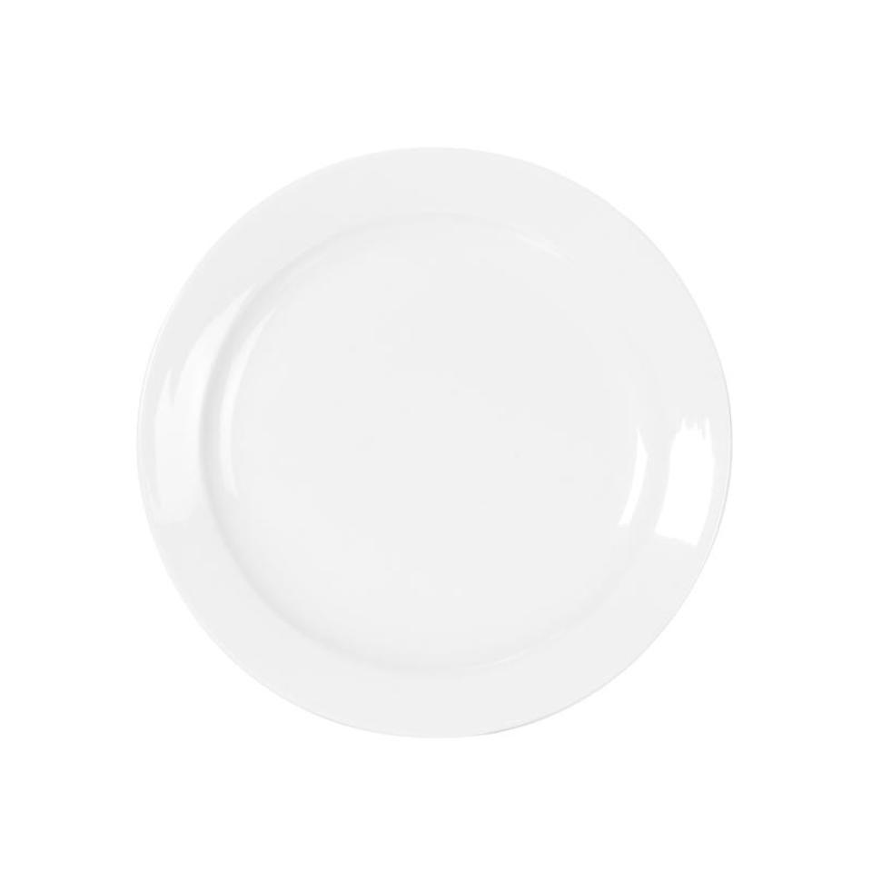 Tomkin Vitroceram Round Plate 250mm White Box 12