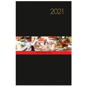 Milford 2021 Table Booking Diary A4 2 Page per Day Black