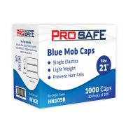 Disposable Crimped Mob Cap 21' PP Blue Pack of 100