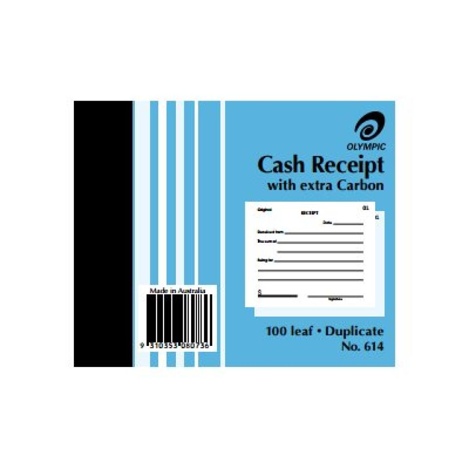 Olympic No.614 Duplicate Carbon Book Receipt 125X100mm