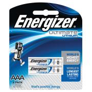 Energizer Ultimate Lithium AAA Batteries Pack 2