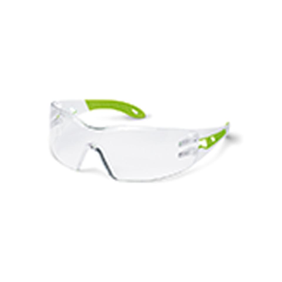 Uvex Pheos Small White/Lime Arms Clear Anti Fog Inside Scratch Resistant Outside