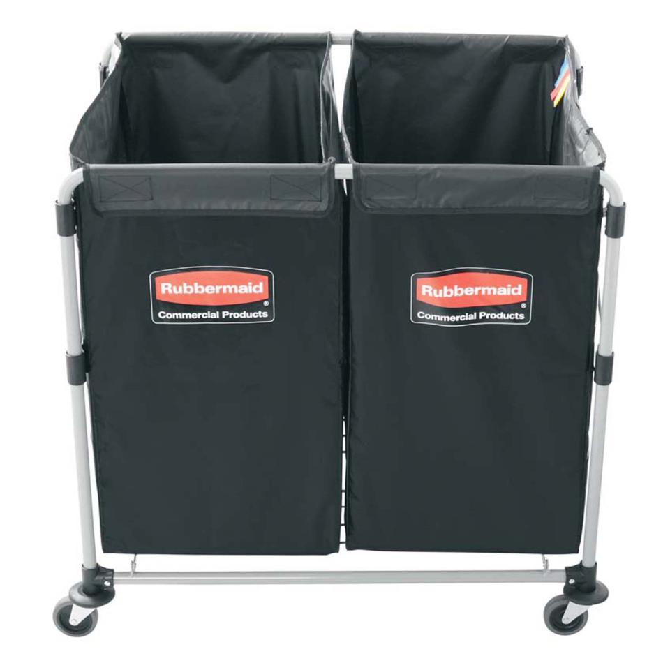 Rubbermaid Commercial Executive Series Collapsible X-Cart Multi-Stream Black