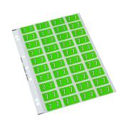 Codafile 162507 Numeric 25mm Label '7' Lime Green Pack 200 labels