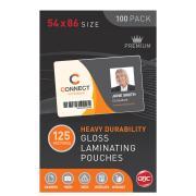GBC 125 Micron Gloss Laminating Pouches 54 x 86 mm Pack 100