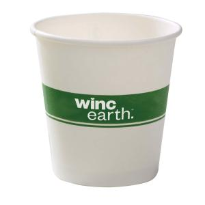 Winc Earth Paper Hot Cup 8Oz/285ml White Carton 1000
