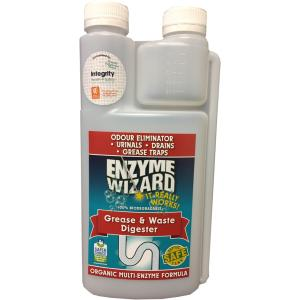 Integrity Health Indigenous Enzyme Wizard Grease & Waste Drain Cleaner Empty 1 Litre Bottle