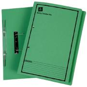 Avery Green Spring Transfer File with Black Print - Foolscap - 355 x 241 mm