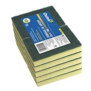 Oates Clean Sponge/Scourer 6X4 Green 10/Pack