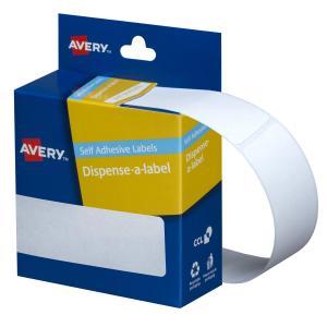 Avery White Rectangular Dispenser Labels - 101 x 24mm - 160 Labels - Hand writable