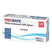 LDPE Dispense Apron 800 x 1400mm White Pack 100