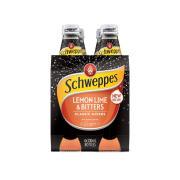 Schweppes Lemon Lime & Bitters 300ml Bottle Pack 4