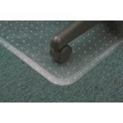 Marbig Chairmat Duramat PVC Key Hole Style Anti Static Low Pile Carpet 1520l x 1160wmm Matt