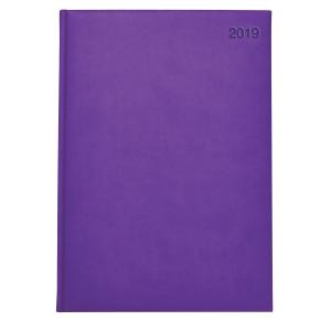 Winc A4 Day To A Page Soft Touch Diary Purple 2019