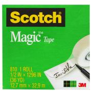 Scotch Magic 810 Tape 12.7mm x 33m