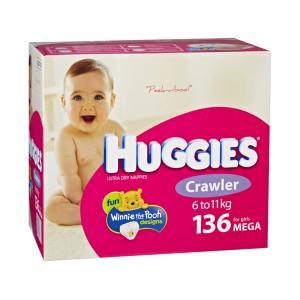 42287 Nappy Huggies Crawler Girl Cs136